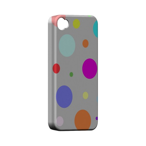 Random & Rainbow on Gray Geeks Designer Line Polka Dot Series Matte Hard Case for Apple iPhone 4/4S