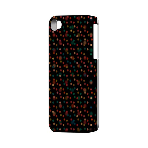 Faded Rainbow Dots on Black Geeks Designer Line Polka Dot Series Matte Hard Case for Apple iPhone 4/4S