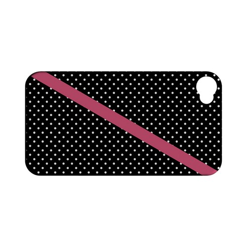 Pink Diagonal Stripe Geeks Designer Line Polka Dot Series Matte Hard Case for Apple iPhone 4/4S