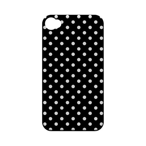 White Dots on Black Geeks Designer Line Polka Dot Series Matte Hard Case for Apple iPhone 4/4S