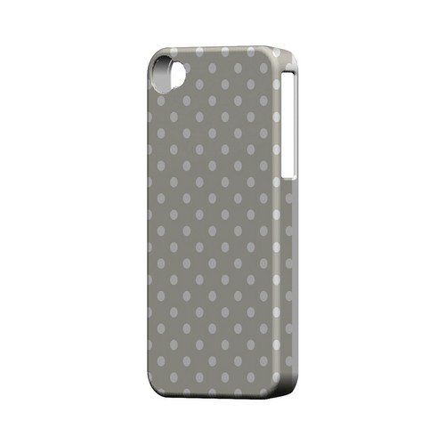 White Dots on Khaki Geeks Designer Line Polka Dot Series Matte Hard Case for Apple iPhone 4/4S