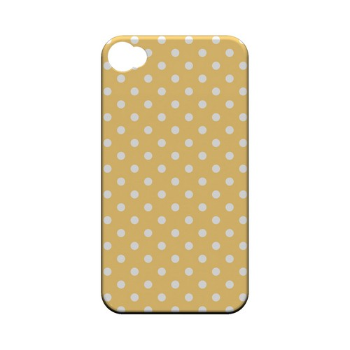 White Dots on Orange Geeks Designer Line Polka Dot Series Matte Hard Case for Apple iPhone 4/4S