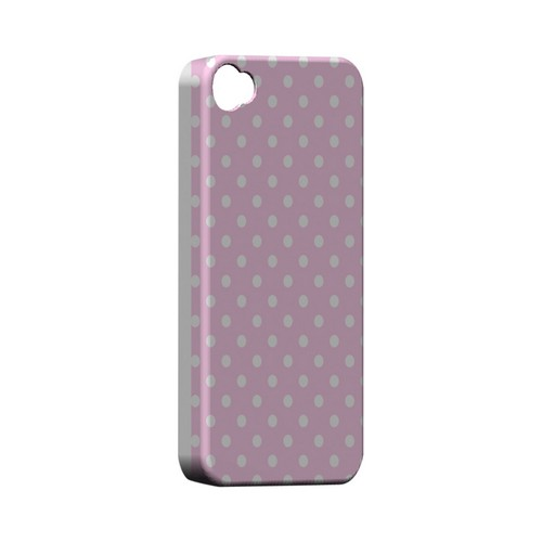 White Dots on Baby Pink Geeks Designer Line Polka Dot Series Matte Hard Case for Apple iPhone 4/4S