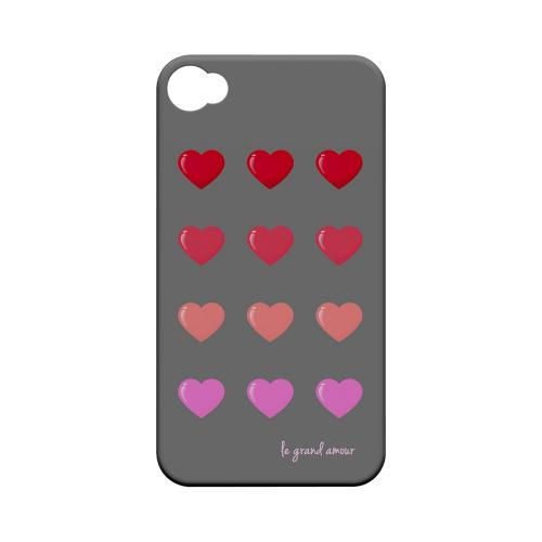 Le Grand Amour Geeks Designer Line Heart Series Matte Hard Case for Apple iPhone 4/4S