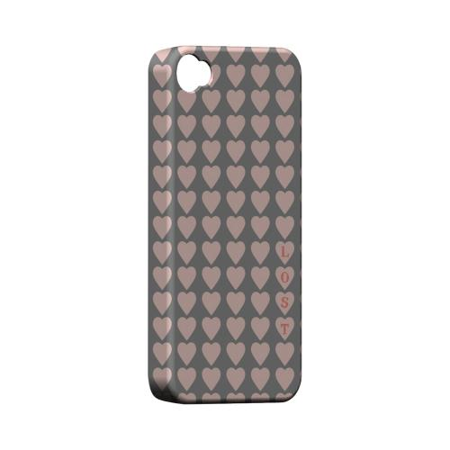 Lost in Love Geeks Designer Line Heart Series Matte Hard Case for Apple iPhone 4/4S