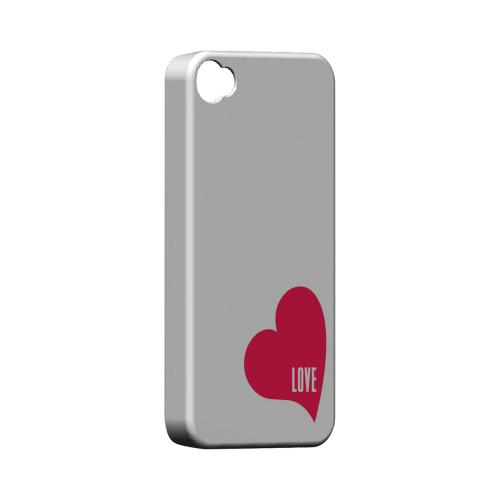 Love Heart Geeks Designer Line Heart Series Matte Hard Case for Apple iPhone 4/4S