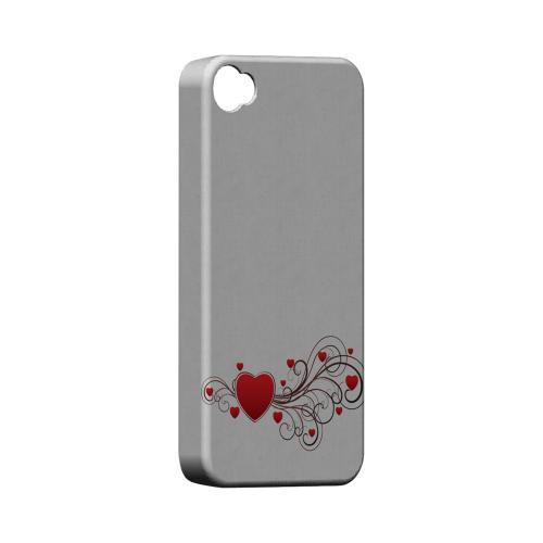 Love Bloom Geeks Designer Line Heart Series Matte Hard Case for Apple iPhone 4/4S
