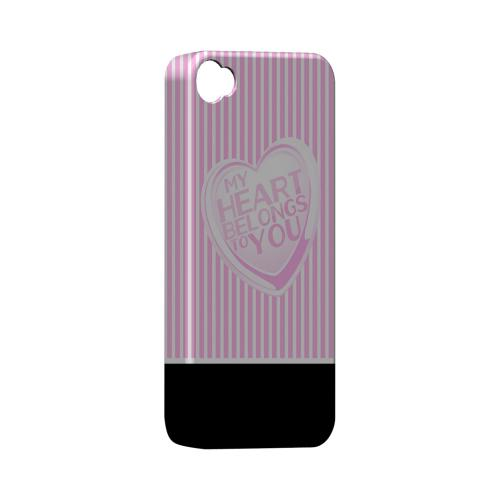 My Heart Geeks Designer Line Heart Series Matte Hard Case for Apple iPhone 4/4S