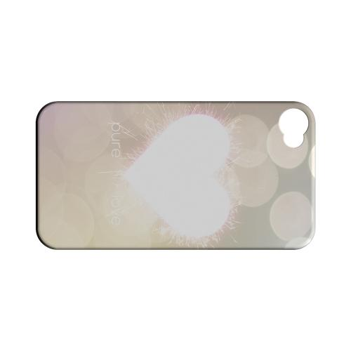 Pure Love Geeks Designer Line Heart Series Matte Hard Case for Apple iPhone 4/4S