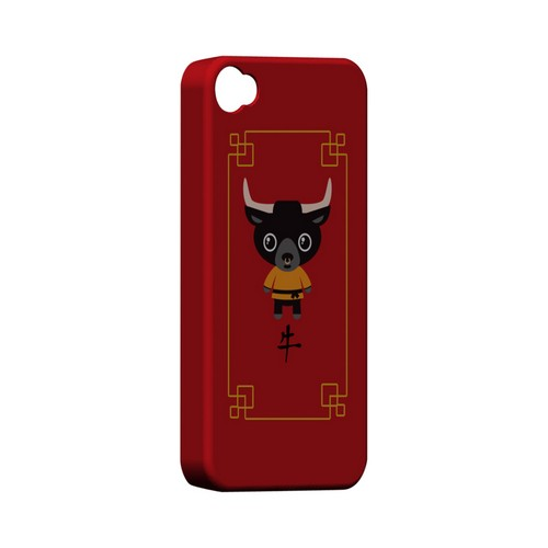 Chibi Ox Geeks Designer Line Chinese Horoscope Series Matte Hard Case for Apple iPhone 4/4S