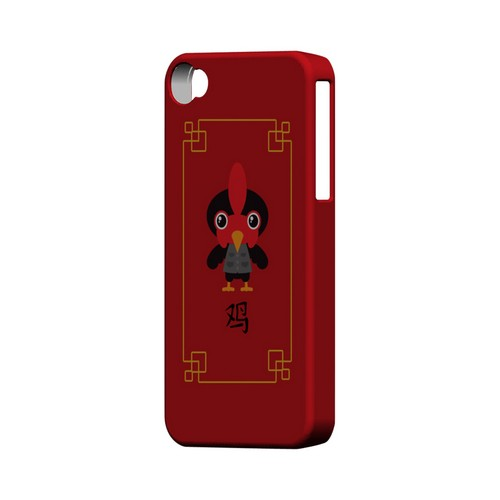 Chibi Rooster Geeks Designer Line Chinese Horoscope Series Matte Hard Case for Apple iPhone 4/4S