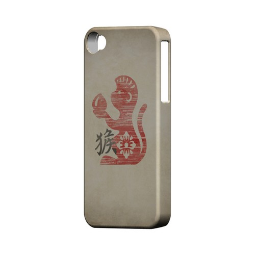 Grunge Monkey Geeks Designer Line Chinese Horoscope Series Matte Hard Case for Apple iPhone 4/4S