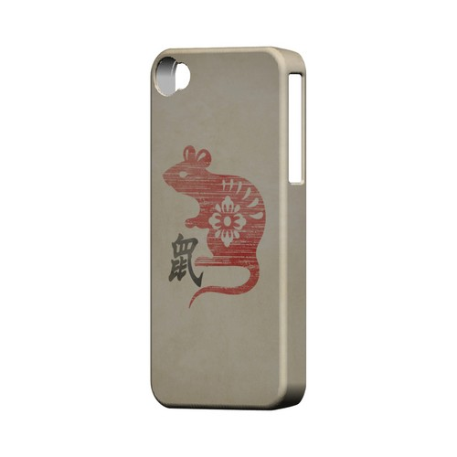 Grunge Rat Geeks Designer Line Chinese Horoscope Series Matte Hard Case for Apple iPhone 4/4S
