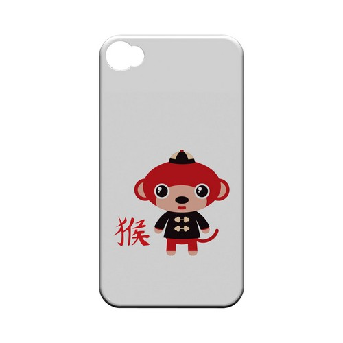 Mnkey on White Geeks Designer Line Chinese Horoscope Series Matte Hard Case for Apple iPhone 4/4S