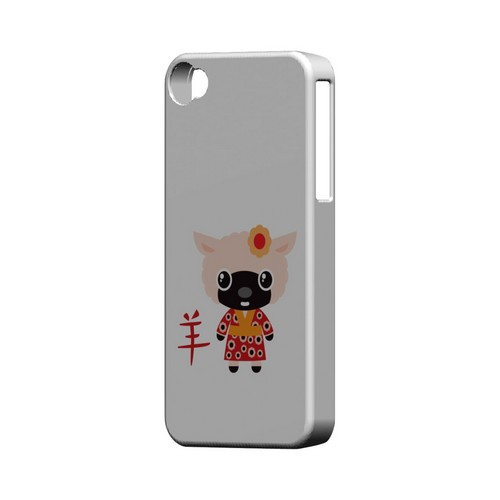 Sheep on White Geeks Designer Line Chinese Horoscope Series Matte Hard Case for Apple iPhone 4/4S