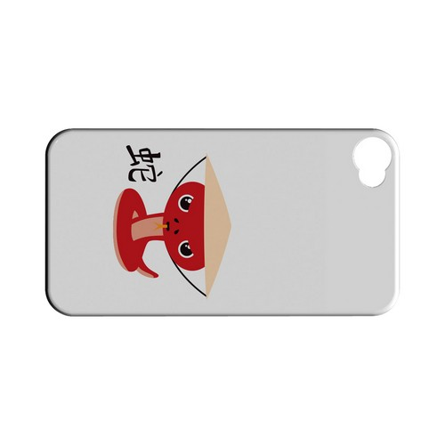 Snake on White Geeks Designer Line Chinese Horoscope Series Matte Hard Case for Apple iPhone 4/4S