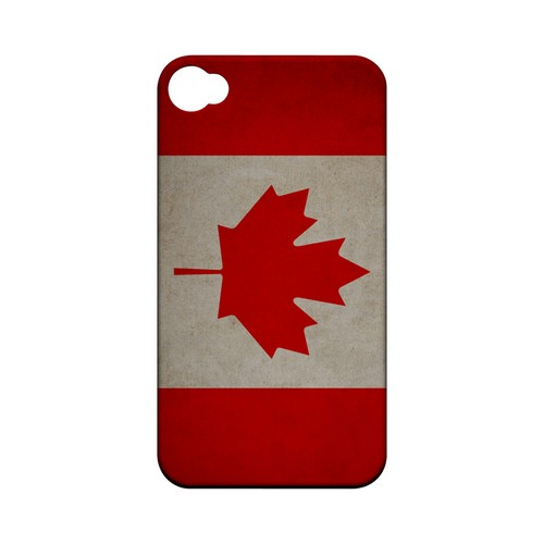 Grunge Canada Geeks Designer Line Flag Series Matte Hard Case for Apple iPhone 4/4S