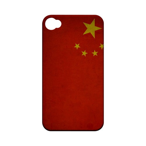 Grunge China Geeks Designer Line Flag Series Matte Hard Case for Apple iPhone 4/4S