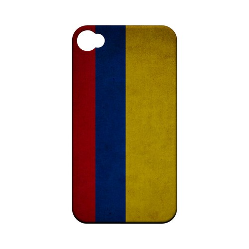 Grunge Colombia Geeks Designer Line Flag Series Matte Hard Case for Apple iPhone 4/4S