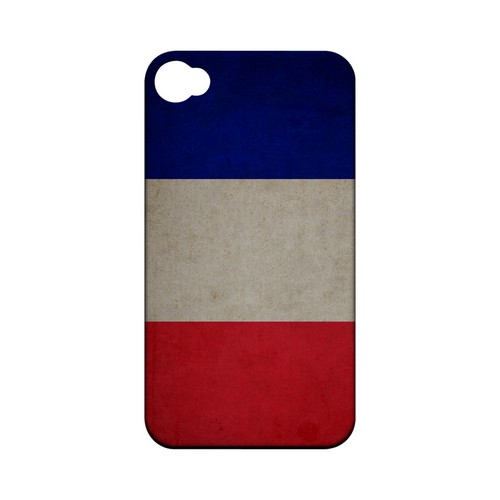 Grunge France Geeks Designer Line Flag Series Matte Hard Case for Apple iPhone 4/4S