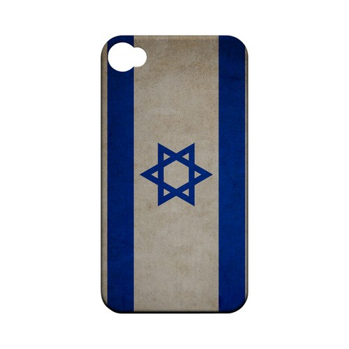 Grunge Israel Geeks Designer Line Flag Series Matte Hard Case for Apple iPhone 4/4S