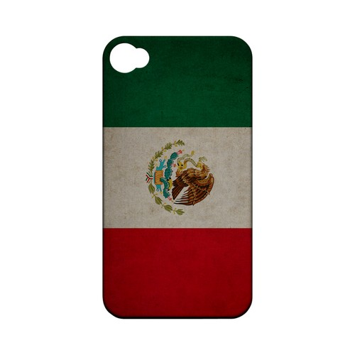 Grunge Mexico Geeks Designer Line Flag Series Matte Hard Case for Apple iPhone 4/4S