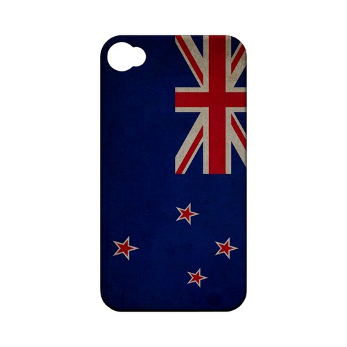 Grunge New Zealand Geeks Designer Line Flag Series Matte Hard Case for Apple iPhone 4/4S