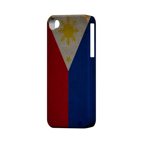 Grunge Philippines Geeks Designer Line Flag Series Matte Hard Case for Apple iPhone 4/4S