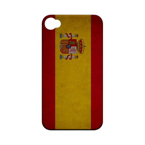Grunge Spain Geeks Designer Line Flag Series Matte Hard Case for Apple iPhone 4/4S