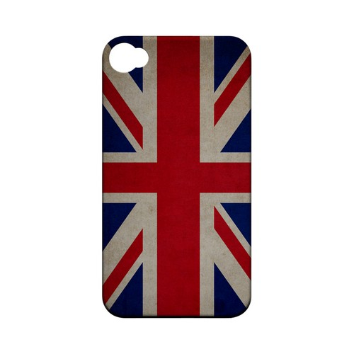 Grunge United Kingdom Geeks Designer Line Flag Series Matte Hard Case for Apple iPhone 4/4S