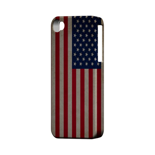 Grunge United States Geeks Designer Line Flag Series Matte Hard Case for Apple iPhone 4/4S