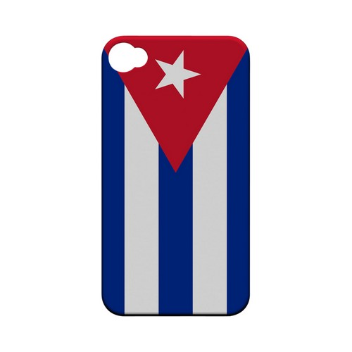 Cuba Geeks Designer Line Flag Series Matte Hard Case for Apple iPhone 4/4S