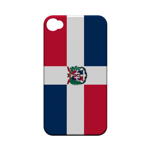 Dominican Republic Geeks Designer Line Flag Series Matte Hard Case for Apple iPhone 4/4S