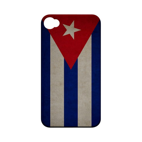 Grunge Cuba Geeks Designer Line Flag Series Matte Hard Case for Apple iPhone 4/4S