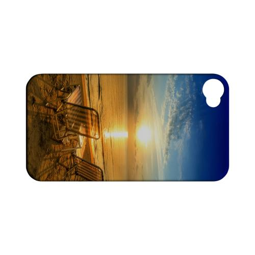 Beach Chair Sunrise Geeks Designer Line Beach Series Matte Hard Case for Apple iPhone 4/4S