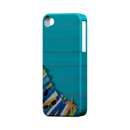 Decked Out Geeks Designer Line Beach Series Matte Hard Case for Apple iPhone 4/4S