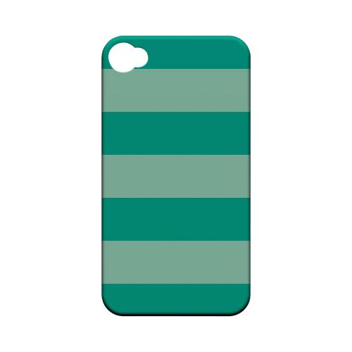 Emerald Grayed Jade - Geeks Designer Line Stripe Series Matte Case for Apple iPhone 4/4S