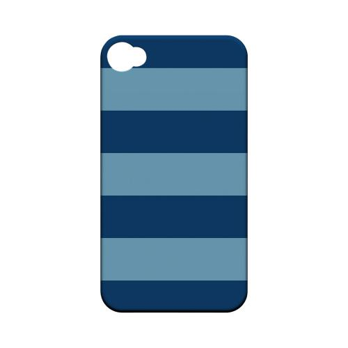 Monaco Blue/ Dusk Blue - Geeks Designer Line Stripe Series Matte Case for Apple iPhone 4/4S