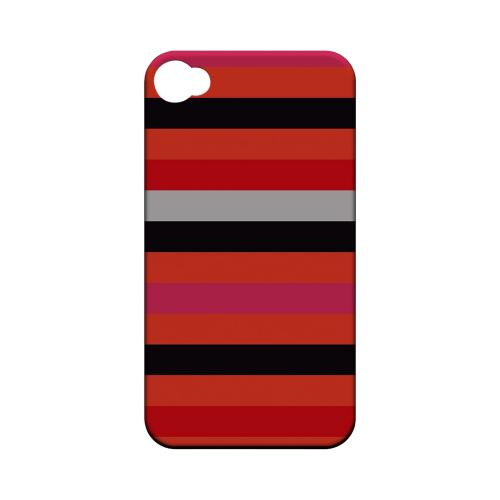 Muted Spade Stripes - Geeks Designer Line Stripe Series Matte Case for Apple iPhone 4/4S