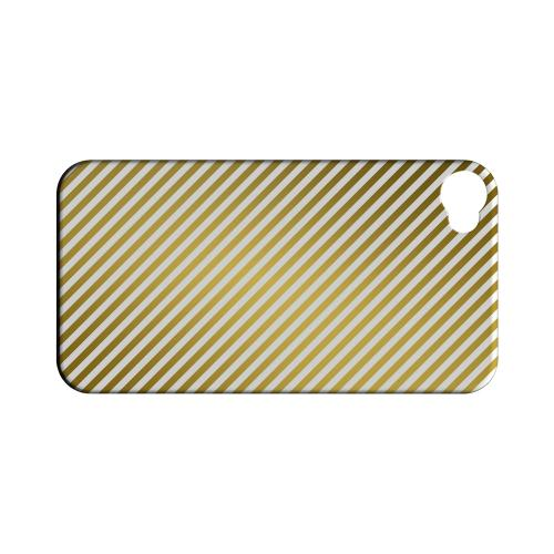 Thin Golden Diagonal - Geeks Designer Line Stripe Series Matte Case for Apple iPhone 4/4S