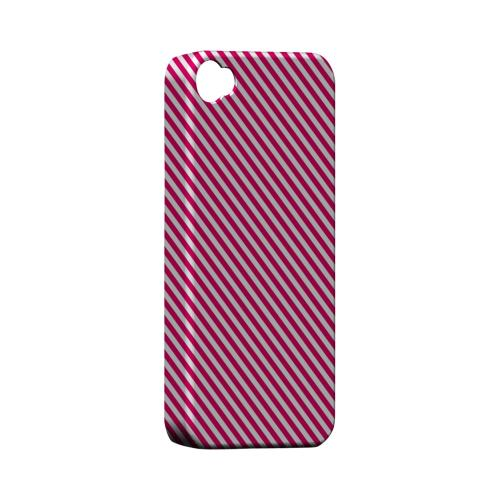 Thin Hot Pink Diagonal - Geeks Designer Line Stripe Series Matte Case for Apple iPhone 4/4S