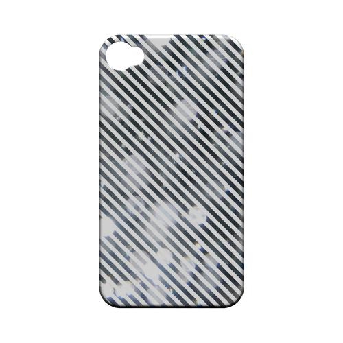 Thin Shimmer Diagonal - Geeks Designer Line Stripe Series Matte Case for Apple iPhone 4/4S
