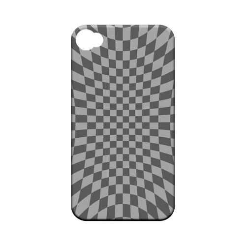Distortion - Geeks Designer Line Checker Series Matte Case for Apple iPhone 4/4S