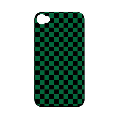 Green/ Black - Geeks Designer Line Checker Series Matte Case for Apple iPhone 4/4S