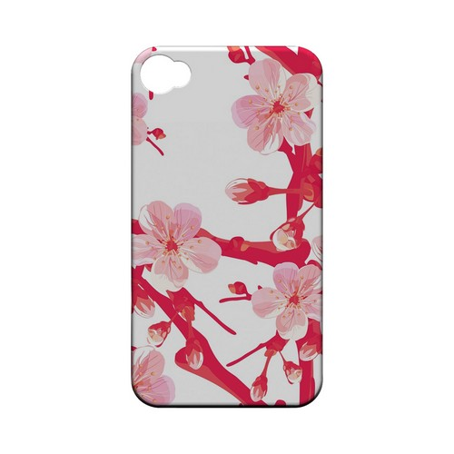 Hot Pink Cherry Blossom - Geeks Designer Line Floral Series Matte Case for Apple iPhone 4/4S