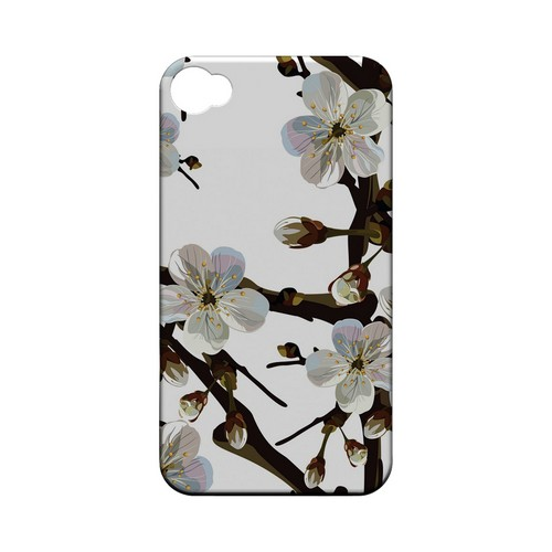 White Cherry Blossom - Geeks Designer Line Floral Series Matte Case for Apple iPhone 4/4S