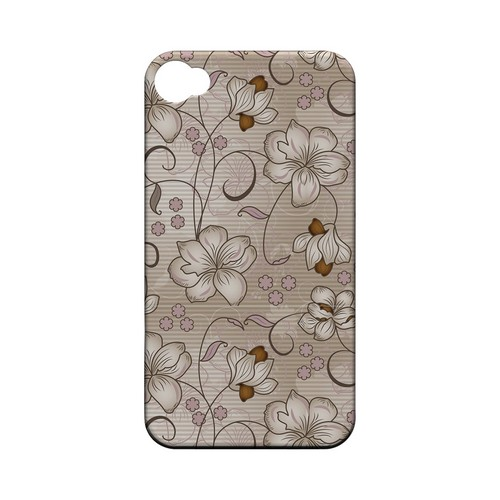 Floral Stripes Linen - Geeks Designer Line Floral Series Matte Case for Apple iPhone 4/4S