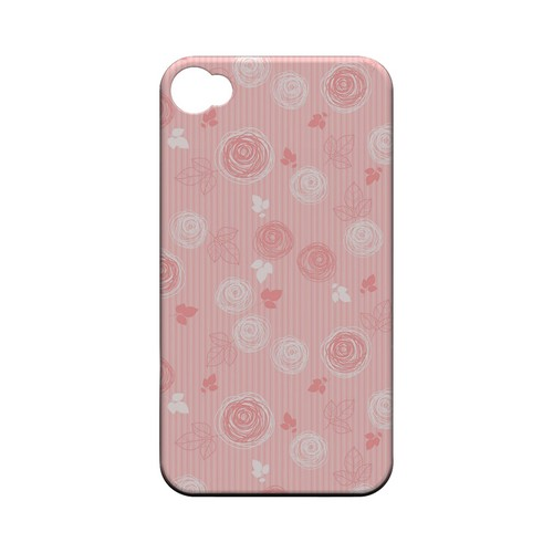 Leaves Scribble Pinkish - Geeks Designer Line Floral Series Matte Case for Apple iPhone 4/4S