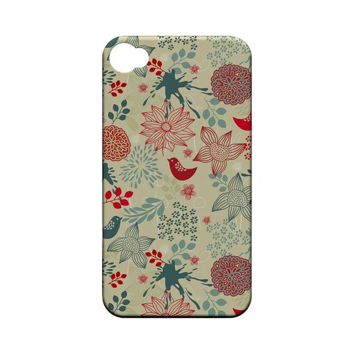Lovebird Floral Splatter - Geeks Designer Line Floral Series Matte Case for Apple iPhone 4/4S