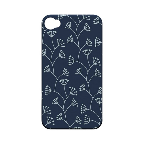 Simple Blue - Geeks Designer Line Floral Series Matte Case for Apple iPhone 4/4S